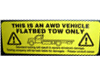 AWD Warning Sticker
